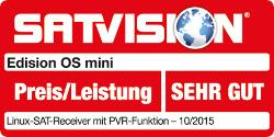Beoordeling SatVision Edision OS mini - DVB-S2 / C / T2 digitale ontvanger